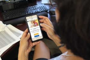 HACA website on a smart phone